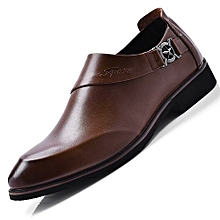 af77815427e5c 2018 The New Genuine Leather Men Formal Shoes British Style Loafers Slip-On  - Brown