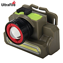 Rechargeable Cree XPE COB LED Headlamp Zooming Function - Army Green