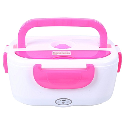 66d14418581f 220V Electric Heated Heating Lunch Box Set Food Warmer Container Bento EU  Plug Rose Red