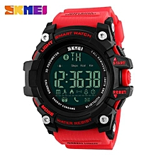 Brand Men's Smart Call Remind Distance Sleeping Monitor Bluetooth Waterproof Sports Wrist Watches-Red