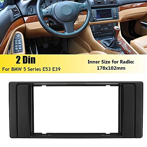 Car Stereo Radio Fascia Panel Plate Frame 2 Din for BMW 5 Series E53 E39