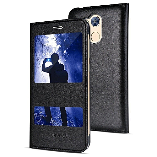 super popolare b0df8 58088 Premium Luxury View Window Flip Case PU Leather R Case Cover Defender For  Huawei Honor 6A Phone Cases