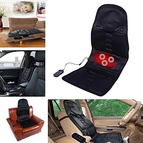 Black Comfortable Car Seat Massage Cushion Heated Mat Massager US Plug