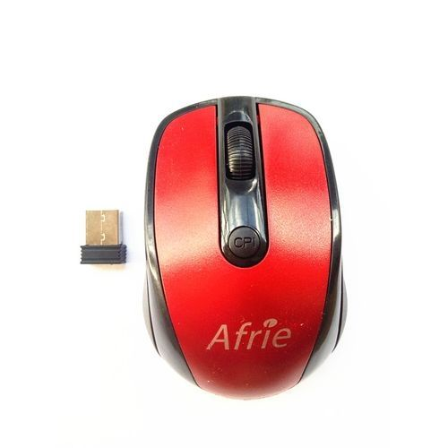 2.4 GHz Optical Wireless Mouse + Receiver - Red