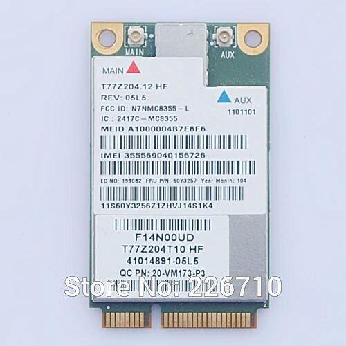 MC8355 Gobi3000 GPS 60Y3257 Mini PCI-e 3G WLAN Card for IBM Lenovo T420  T420S T520 X220 X220T T520i W520 X121e