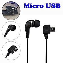 Olivaren Universal Micro USB Mono Single Stereo Earphone For Bluetooth Headphone -Black