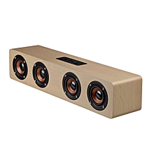 Multifunctional 14W Wood Sound Grain Speaker Wireless Bluetooth TF Card AUX FM