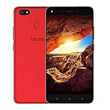 TECNO Spark 2 KA7 , 6'', 16GB+2GB,13mp, (Dual SIM), Bordeaux red + free Protective Case