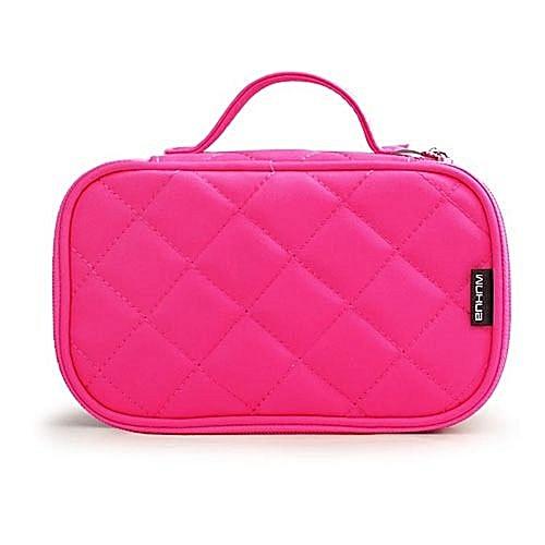 Beauty Fashion Nylon Women s Makeup Bags Organizers Travel Handbags Rose Red 04067c846