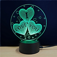 M.Sparkling TD078 Creative Love Day 3D LED Lamp RGB COLOR