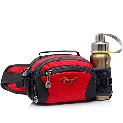 Fashion 2016Hot Sale Durable Outdoor Sports Camping Belt Water Bottle Waist  Bags Women Men Lightweight Small Mess Pouch Fanny Pack(Red) 0c14244f5