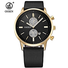 NEW Arrival Fashion OHSEN Sports Watch Men Male Quartz Wristwatch Alloy Case PU Band Military Watch Waterproof Relogio Masculino