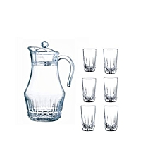 7 Piece Drinking Glasses and Jug Set.