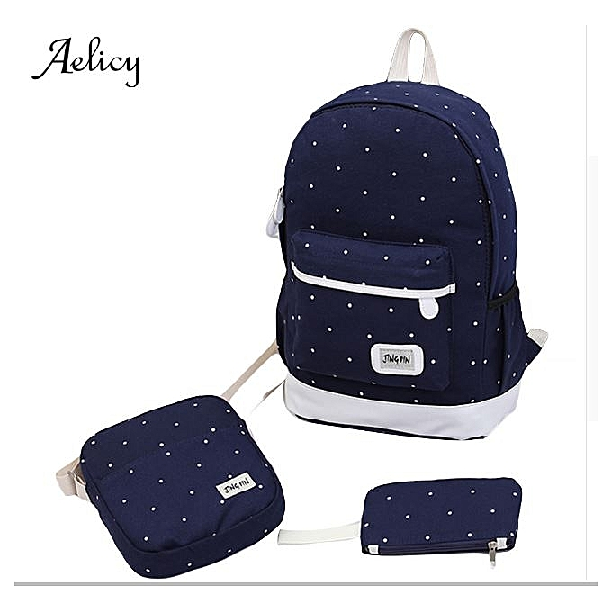 83a7cebe1e canvas backpack women dot school bag for teenagers girls high quality female  backpacks Preppy Style composite