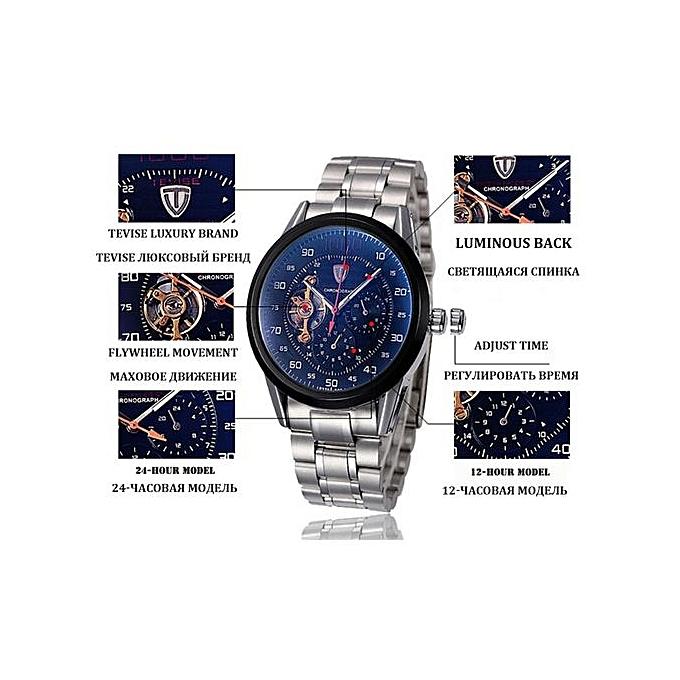 ... Brand Fashion Luxury Men's Mechanica Watches Automatic Skeleton Watch Clock Male Business Waterproof Relogio Masculino F8378