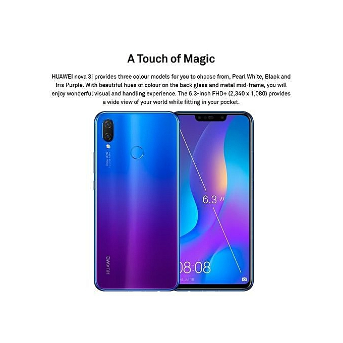 Nova 3i, 4GB + 128GB (Dual SIM) - Purple
