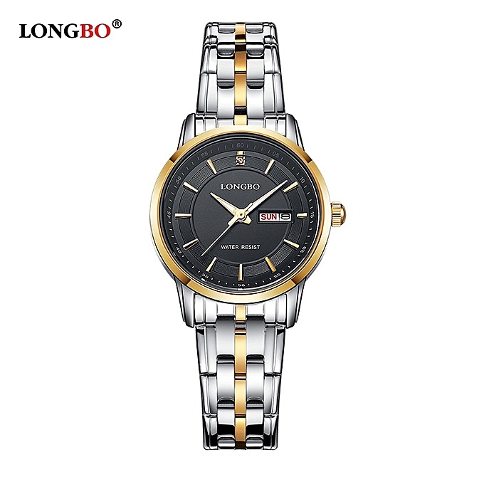 5df167a67c9 Casual Womens Gold Tone Stainless Steel Band Strap Analog Quartz Watch  Waterproof Auto Date Day Calendar