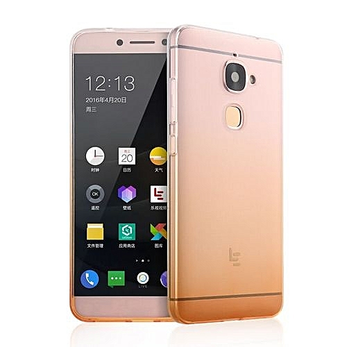 sports shoes 05a43 c9837 Clear Transparent Soft TPU Silicone Shell For Letv Le 2 Le2 Pro Case Cover  Le X620 X20 Ultrathin Gradient Back Cover (Gold)
