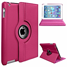 PU Leather Smart Stand Flip Case Cover For Apple Ipad Air/Ipad 5 360 Rotation Tablet Full Protector Case Color:Black Mll-S