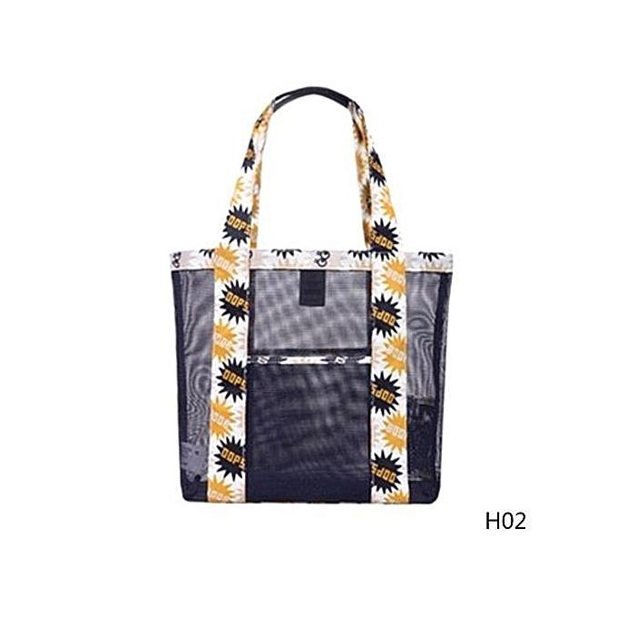 a036ab8f52 Fashion Womens Mesh Shopping Shoulder Bags Handbag Beach Bag Lady Clear  Tote Bag