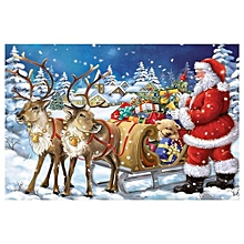 DIY 5D Diamond Painting Full Drill Kits Christmas Gifts Santa Claus Christmas Wall Decorations(12in X 16in)