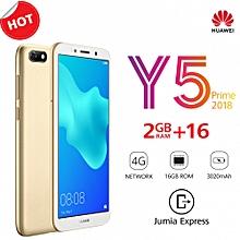 """Y5 Prime 2018 - 5.45"""" - 16GB ROM - 2GB RAM - 13MP Camera (Dual SIM) - Gold"""