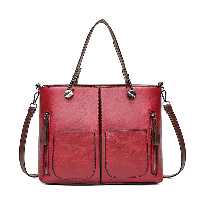 Women Vintage Artificial Leather Minimalist Fashion Handbag Shoulder Crossbody  Bag 1cae6d4001