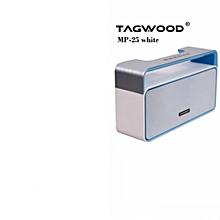 MP-25 Mini Wireless Portable Bluetooth Speaker With FM Radio WHITE 500W