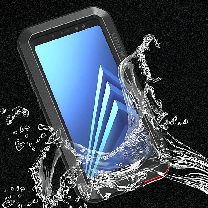 separation shoes c9d8a 60113 Galaxy A8 Plus 2018 Waterproof Case, Shockproof Snowproof Dustproof Durable  Aluminum Metal Heavy Duty Full-body Protection Case Cover for Samsung ...