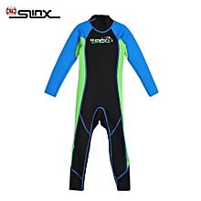 One-piece Swimsuit Long Sleeve for Child S - Blue + Green