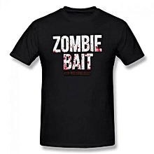 Zombie Bait Summer Basic Casual Short Cotton T-Shirt(Regular And Big And Tall Sizes Included)