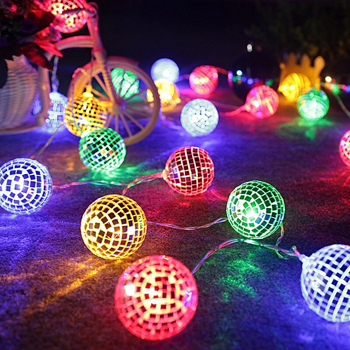 String Lights Moroccan Ball 10 Led Globe Fairy Orb Lantern Patio