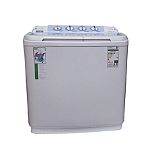 Geepas GSWM6467 - 10kg Top Load Semi-Automatic Washing Machine - White