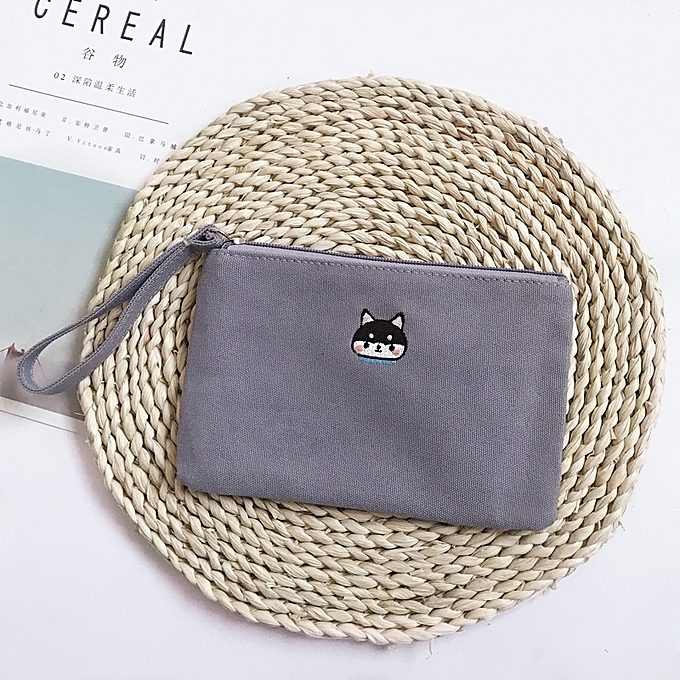 34cb52fb4122 New product ash HuskyKorean cartoon lovely mini small purse the female  small change bag zipper canvas