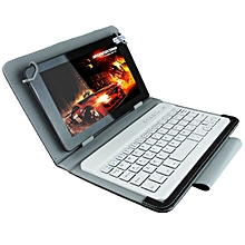 Universal Bluetooth Keyboard with Leather Case & Holder for Ainol / PiPO / Ramos 9.7 inch / 10.1 inch Tablet PC(Black)
