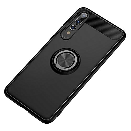 quality design d83c0 83ffc Huawei P20 Pro Silicone Case TPU Cover With Metal Ring - Black