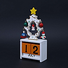 Christmas creative gifts wooden calendar decorative ornaments # White