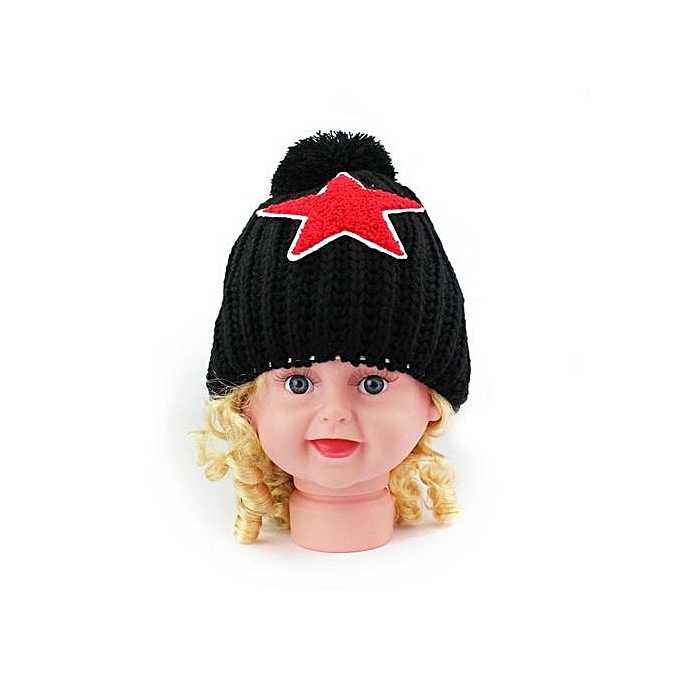 Eissely Baby Knitted Winter Warm Hats Stars Baby Beanie Children Cap ... afe54e0b1f4d