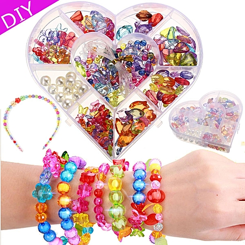 Buy Generic Crystal Series Diy Craft Beads Kit For Girls Kids