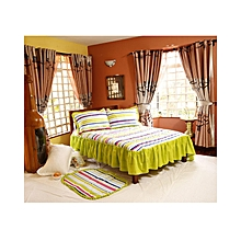 4Pc - Quilted Bedcover Set - 6 x 6 - Multicoloured
