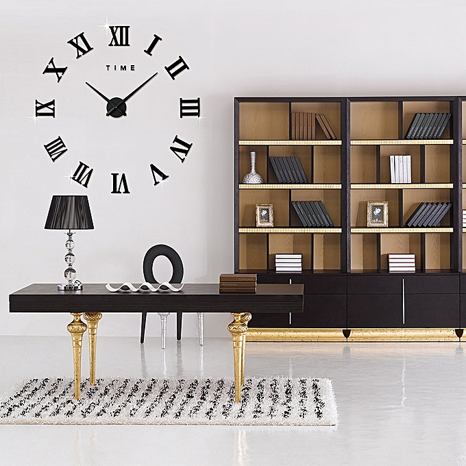 Generic M Sparkling Diy Wall Clock Roman Numeral Scales Home Decor Jumia Kenya