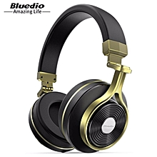 LEBAIQI Bluedio T3 (Turbine 3rd) 3D Bass Foldable Wireless Bluetooth 4.1 Stereo Headphones Headset (Gold)