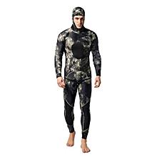 UJ 2PCS Men Diving Suit Neoprene 3mm Spearfishing Wetsuit Surf Snorkel Swimsuit-MY009