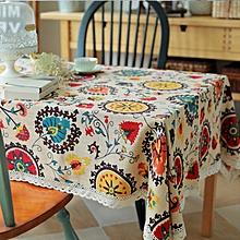 Sun flower Cotton Linen Tableware Mat Table Runner Tablecloth Desk Cover Heat Insulation Bowl Pad 60*60cm