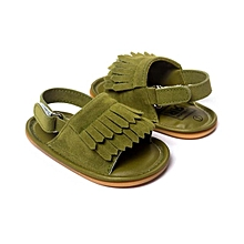 Baby Crib Tassels Sandals Shoes Toddler Sneakers Casual Shoes  AG 11- Army Green