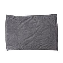 Solid Color Blanket Coral Fleece Comfortable Sleeping Home Bed Sofa Blanket silver-grey