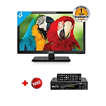 "NTV3250LED1 - 32"" HD Analog LED TV - Black + FREE Skylife Decorder"