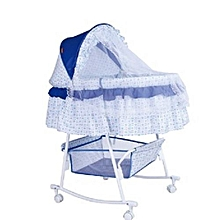 Metal Baby Crib Rocking Bed Baby Cradle Cot (Big size) & Baby Stroller With Fabric Mosquito Net