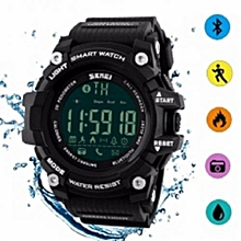 SKMEI Brand Sport Smart Fashion Outdoor Digital Watches Fitness Tracker Bluetooth Big Dial Wristwatch - Black