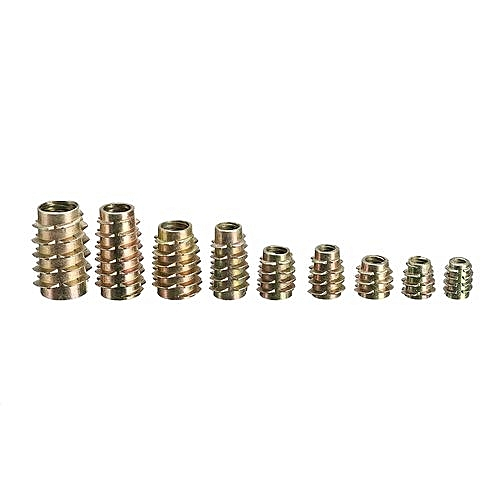 200 Pcs 9 Size M4 M5 M6 M8 M10 Hex Drive Screw In Threaded Insert For Wood  (M6x13)